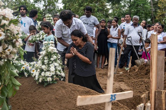 Sri Lanka mourns victims of Easter Sunday bombings