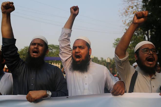Protest against Sri Lankan church attack in Dhaka