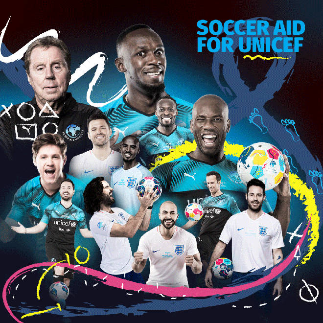 Soccer Aid For Unicef 2019 Tickets Celebrities And Footballers Confirmed For Heart London