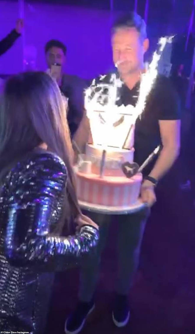Madison's father Matthew brought her a huge cake