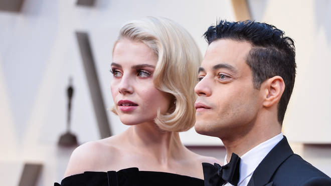 Lucy is in a relationship with co-star Rami Malek