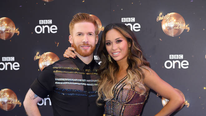 Katya Jones, pictured here with husband Neil Jones, has reportedly been dropped over her Strictly cheating scandal.