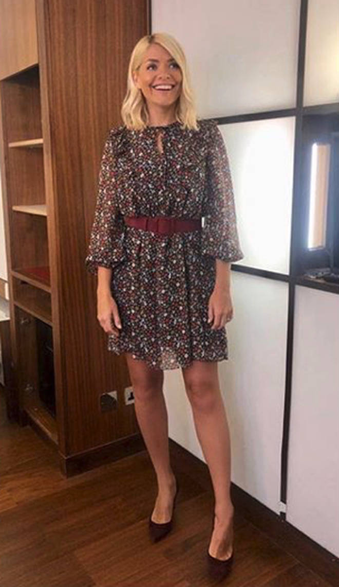 Holly Willoughby opted for a fun summery look