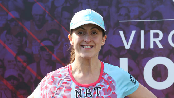 Natalie Cassidy at the Virgin Money London Marathon 2019.