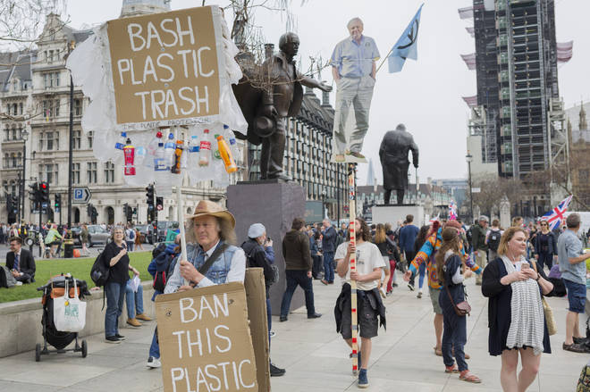 Extinction Rebellion erected a cardboard cut-out of David Attenborough during their London protests