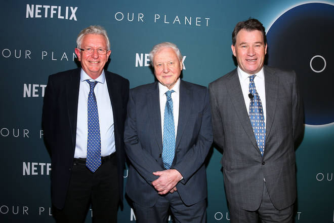David Attenborough at the launch of Our Planet