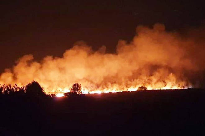 Parts of Ashdown Forest have been completely destroyed by the inferno