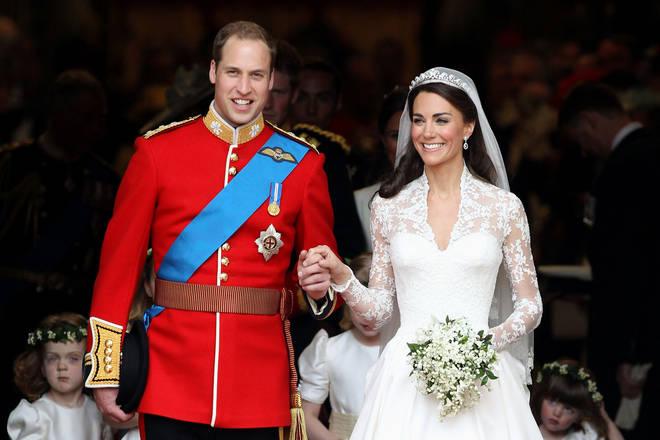 Kate Middleton's dress was designed by Sarah Burton for Alexander McQueen