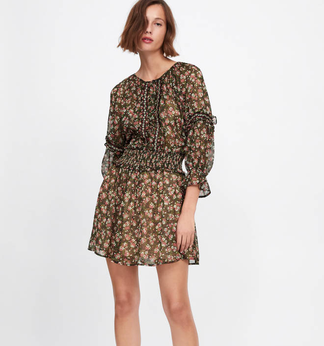 Kelly's dress is by Zara