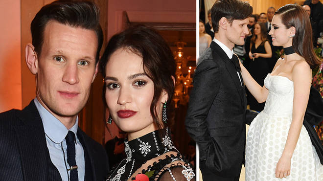 Lily James and Matt Smith are dating IRL