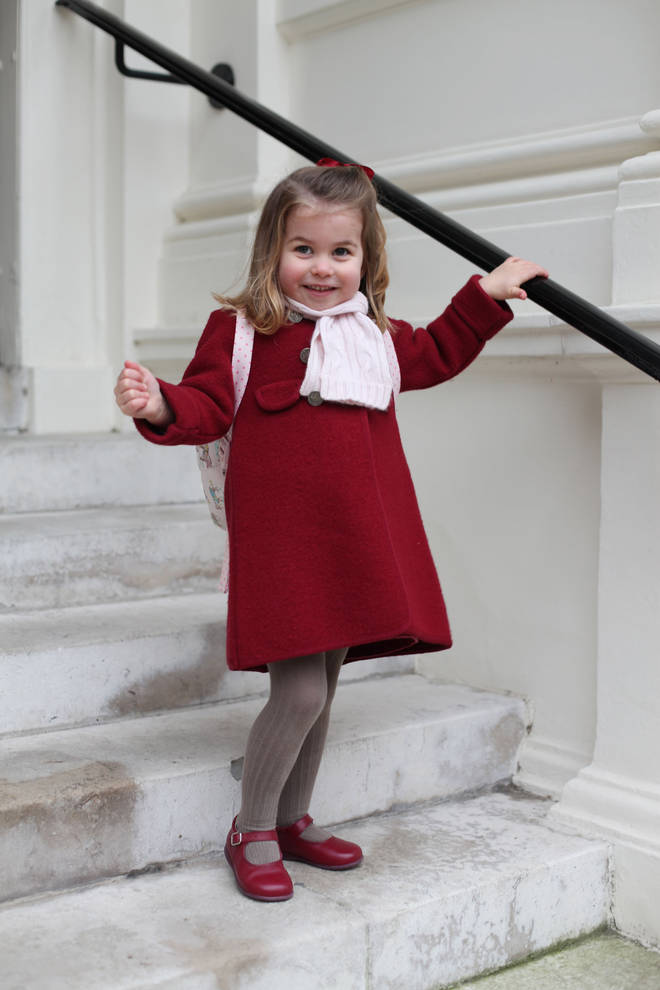 Princess Charlotte on her first day of school