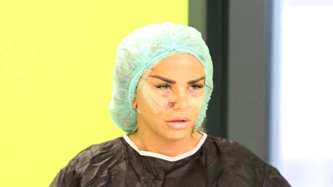 Katie Price was forced to call medical help after an infection from her facelift