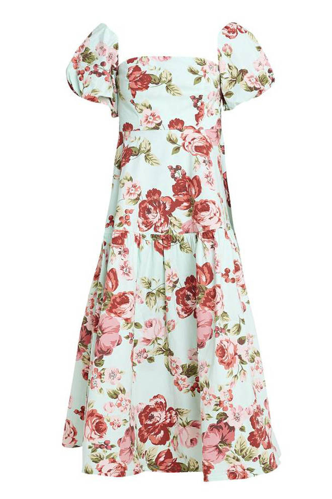 This puff sleeve dress is the pricier item at £89
