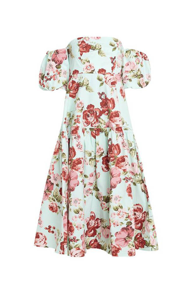 This similar off-the-shoulder dress is also £89