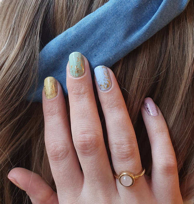 Gradient nails are a big hit at the moment - where all of the nails are a different shade