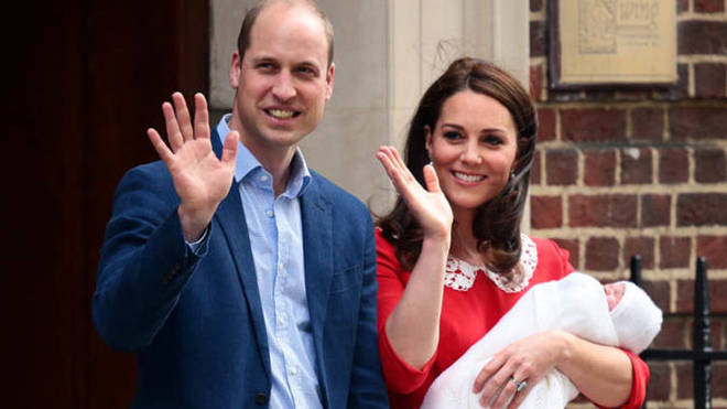 Kate and William with Prince Louis