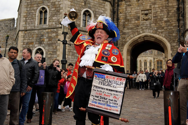 Royal fans gathered in Windsor to celebrate the birth of the Royal Baby