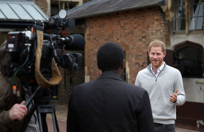 Prince Harry announced the birth to the media on Monday