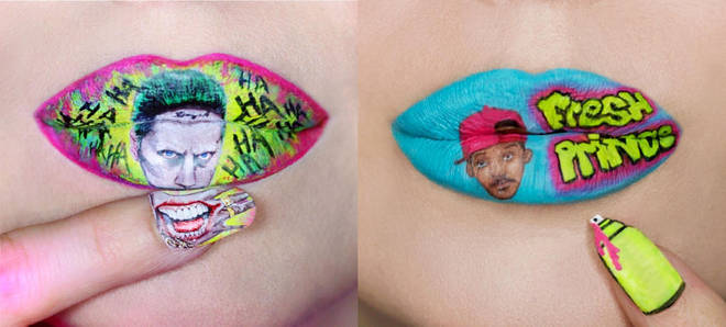 The incredible lip and nail art has attracted thousands of likes and comments