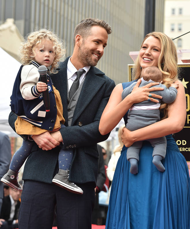 We saw James and Inez for the first time as their dad Ryan Reynolds was honoured with a star on the Hollywood Walk Of Fame