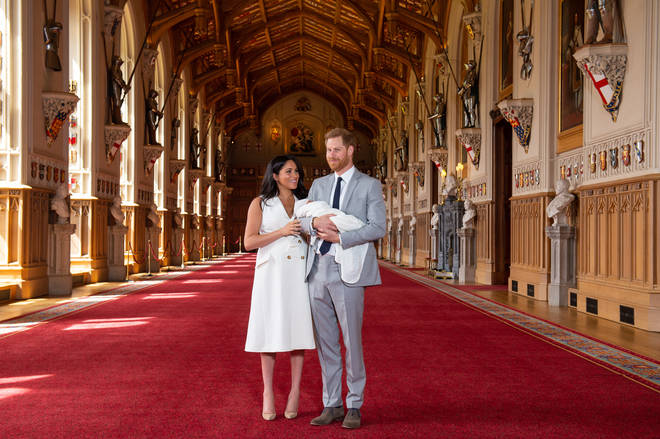Meghan wore some nude Manolo heels
