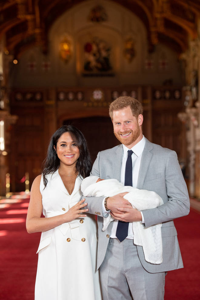 The Duke & Duchess Of Sussex share the first photos of their new son