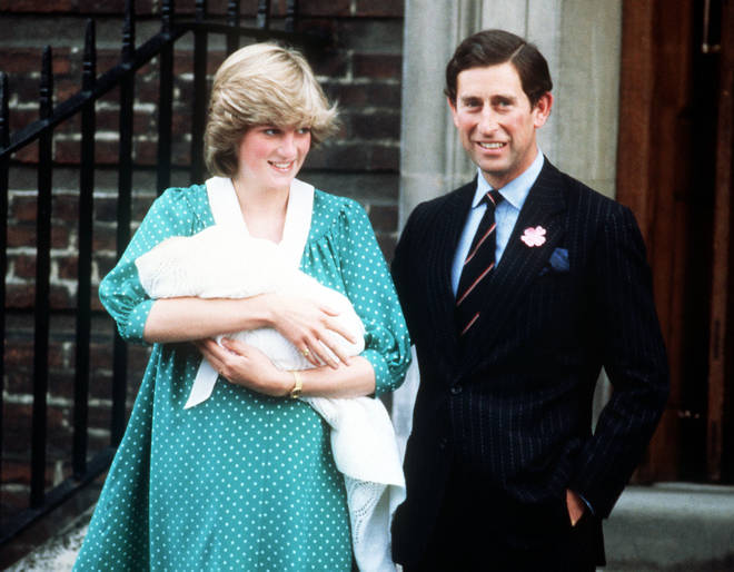 Princess Diana held her sons during the Linda Wing photocalls