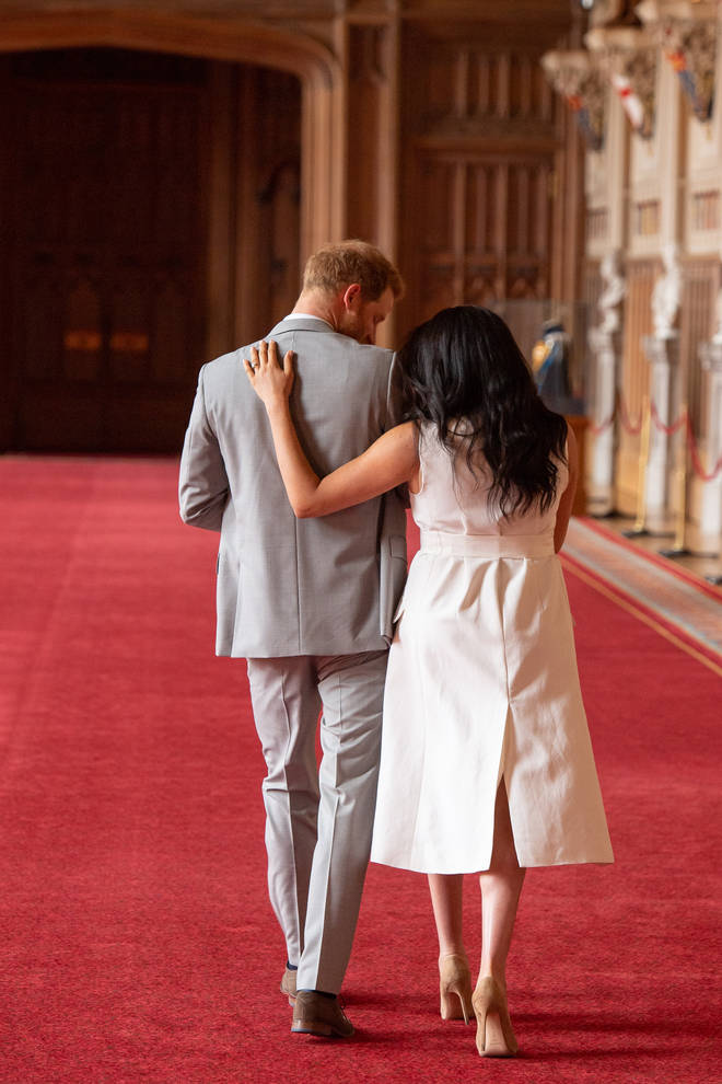 Meghan Markle and Prince Harry shared a special moment following the photocall