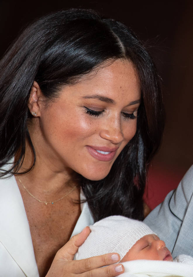 Meghan Markle looked adoringly at her son