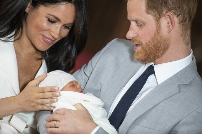 The happy couple have named their son Archie
