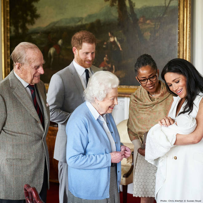 Prince Philip, The Queen and Meghan's mum, Doria Ragland meet Archie