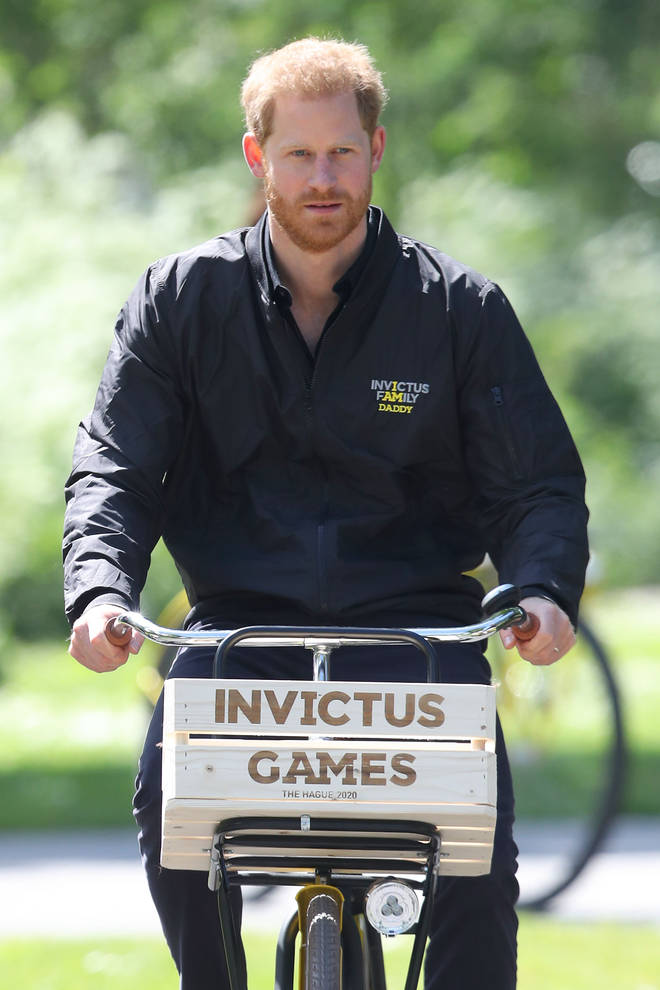 Prince Harry also wore a 'Daddy' Invictus Games jacket