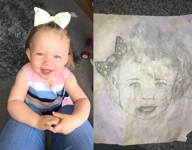 A mum was 'mind blown' to find this sketch which looks exactly like her daughter