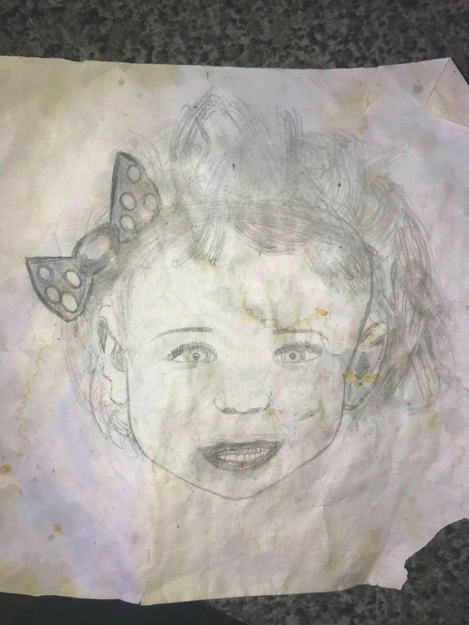 Taylor uncovered a 'spitting image' drawing of her daughter
