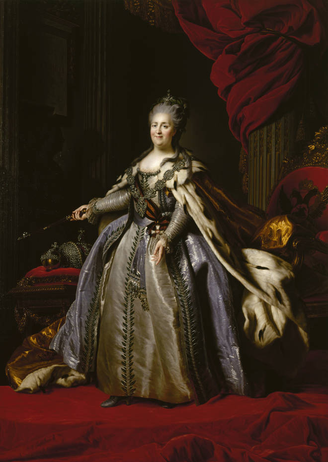 A portrait of Catherine the Great.