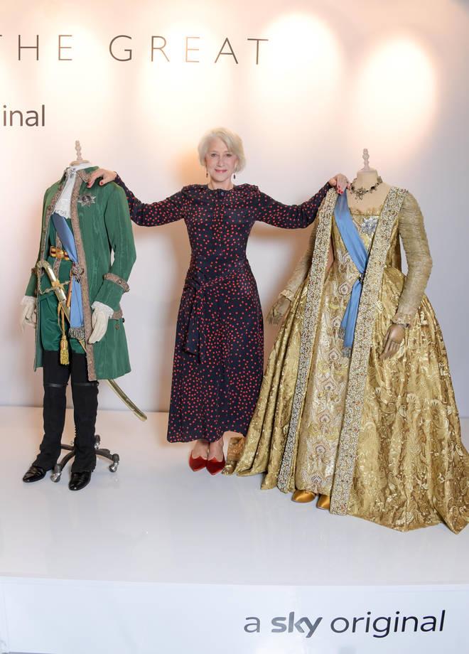 Helen Mirren plays Empress Catherine II in the upcoming Sky drama.