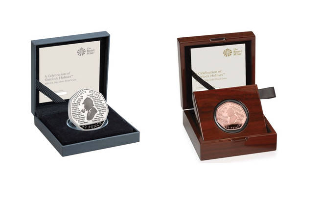 The brand new Sherlock Holmes coins vary in cost
