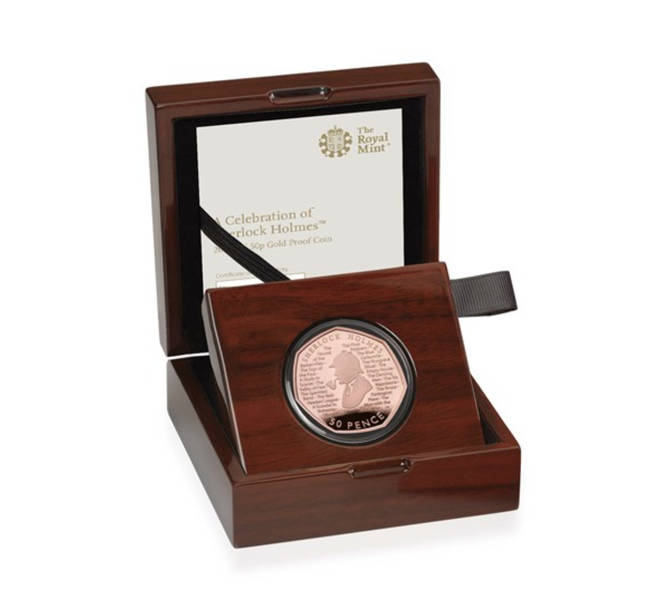The most expensive coin in the Sherlock collection is the Gold Proof Coin