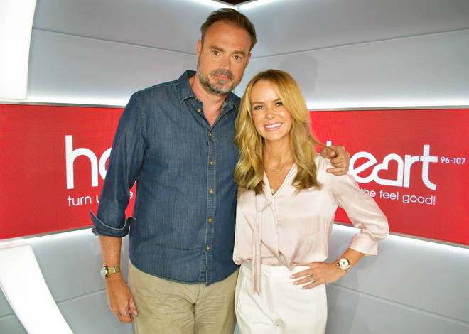 Jamie Theakston and Amanda Holden will host Heart's brand-new Breakfast Show from 3rd June