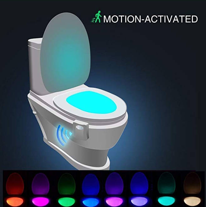 The light up toilet light is helping scared c children use the toilet at night