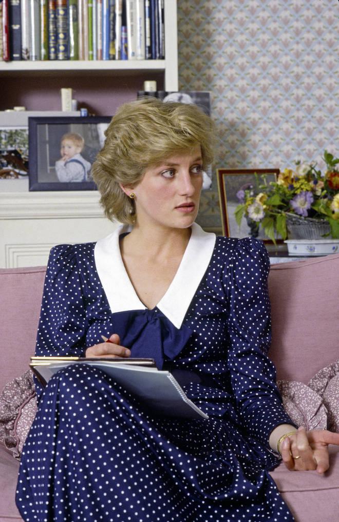 Princess Diana wore a similar dress back in 1985