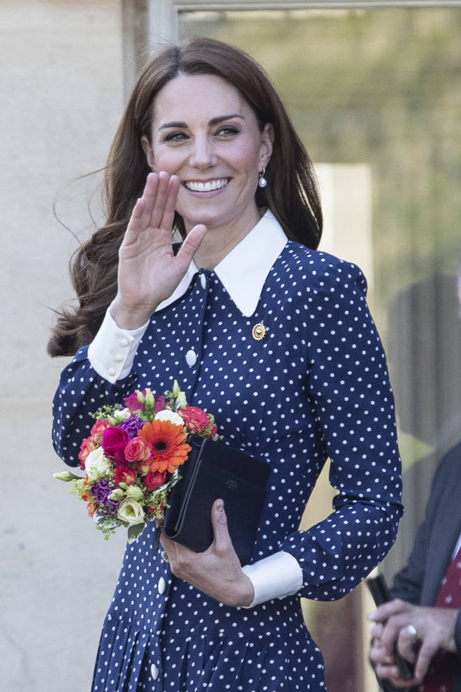 The Duchess of Sussex as all smiles as she greeted the crowd