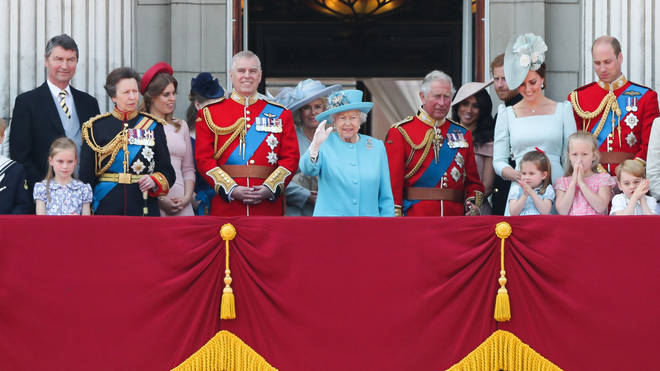 The entire royal family gather for Trooping The Colour