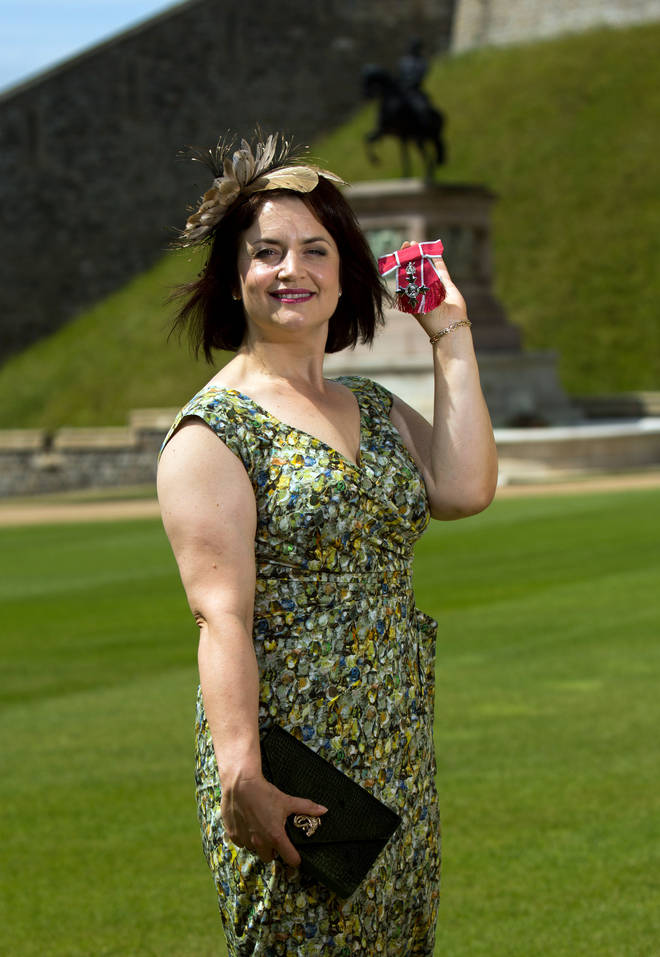 Ruth Jones received an MBE in 2014
