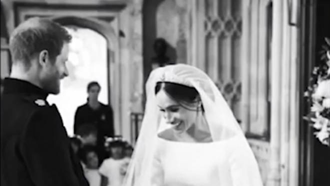 One of the behind-the-scene pictures from Meghan and Harry's wedding