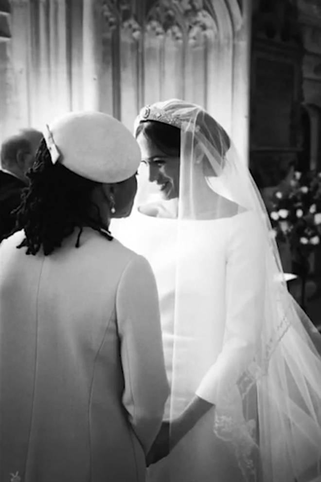 Meghan with her mum Doria on her wedding day
