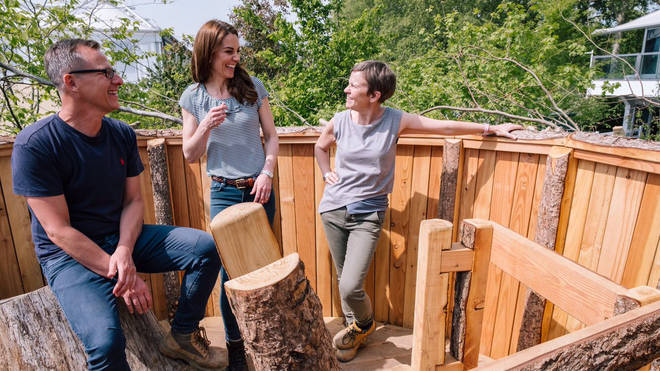 The Duchess of Cambridge's #RHSChelsea 'Back to Nature' Garden is aiming to inspire interaction with the natural environment through its multi-sensory, green and blue plant scheme.
