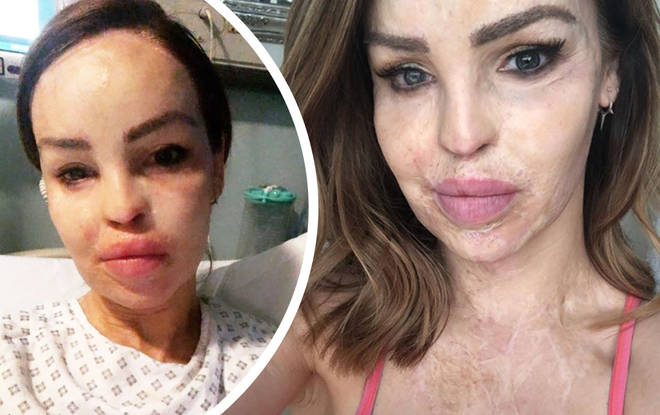 The philanthropist shared a selfie of her in a hospital bed