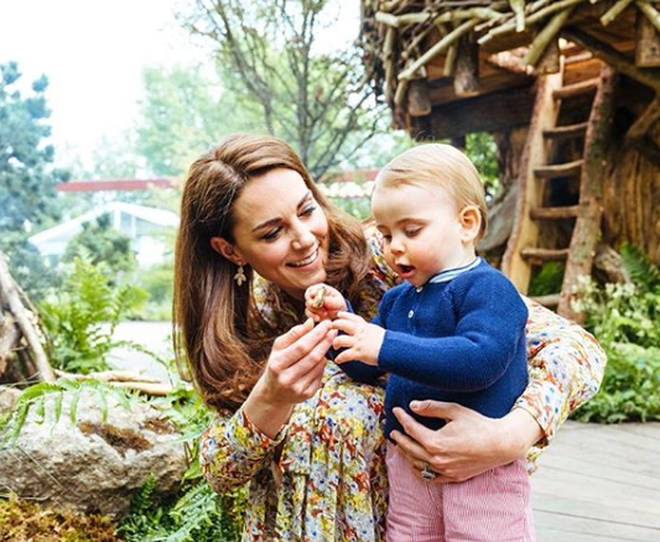 Kate Middleton and her family explored the beautiful garden together