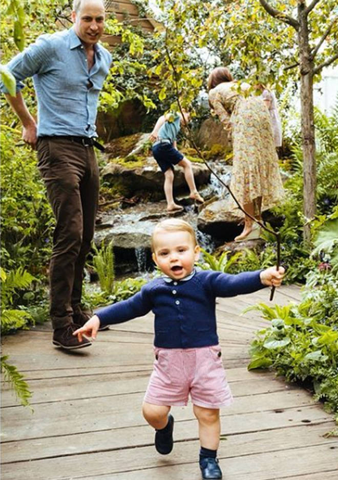 Prince Louis took his first steps on camera during the visit